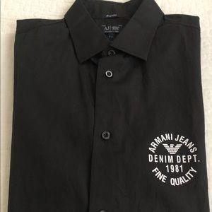 Armani Jeans Shirts - NWOT MEN S ARMANI JEANS BLACK SHIRT cca85aade